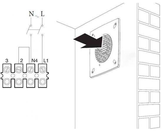 Схема подключения на вытяжку